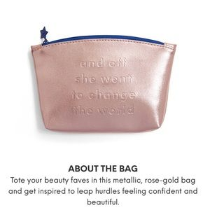"""Ipsy """"and off she went to change the world"""" bag"""